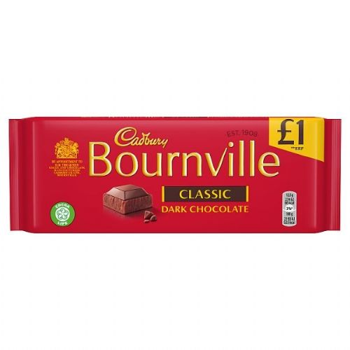 Cadbury Bournville Classic Dark Chocolate Bar 100g (UK)